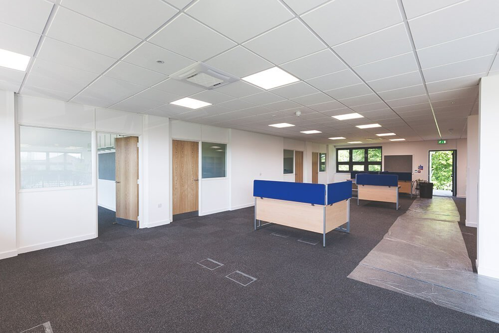Suspended ceilings for offices