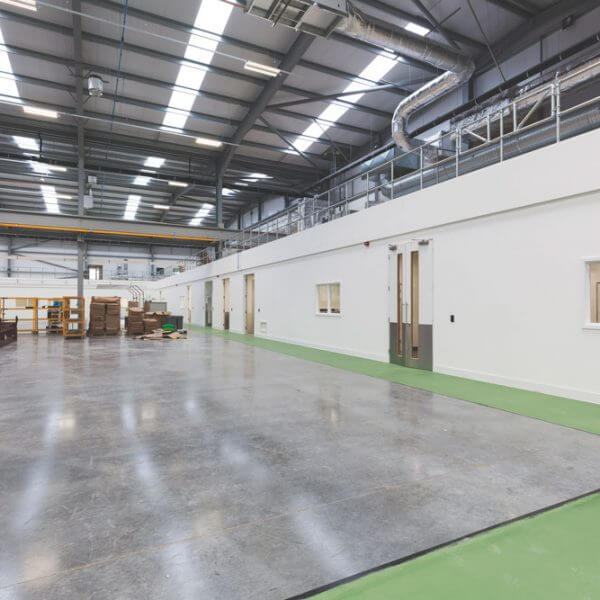 Dry lining for industrial development