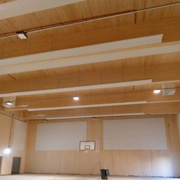 acoustic baffles in sports hall