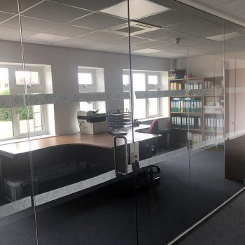 glass office installation