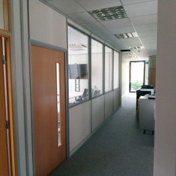 half height glass partitions
