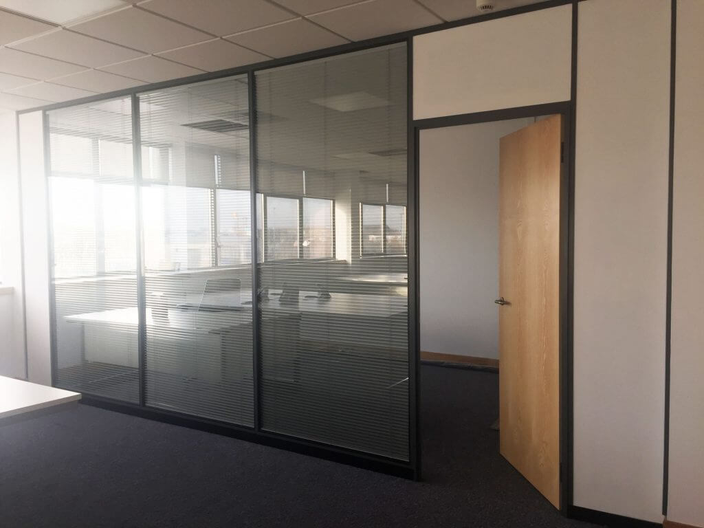 glass partition with ash door