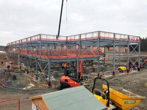Steel frame structure in Norfolk