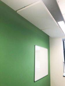 hanging acoustic panels in school