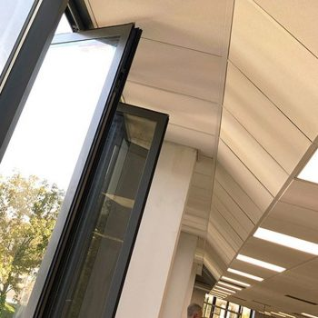 Angled suspended ceiling