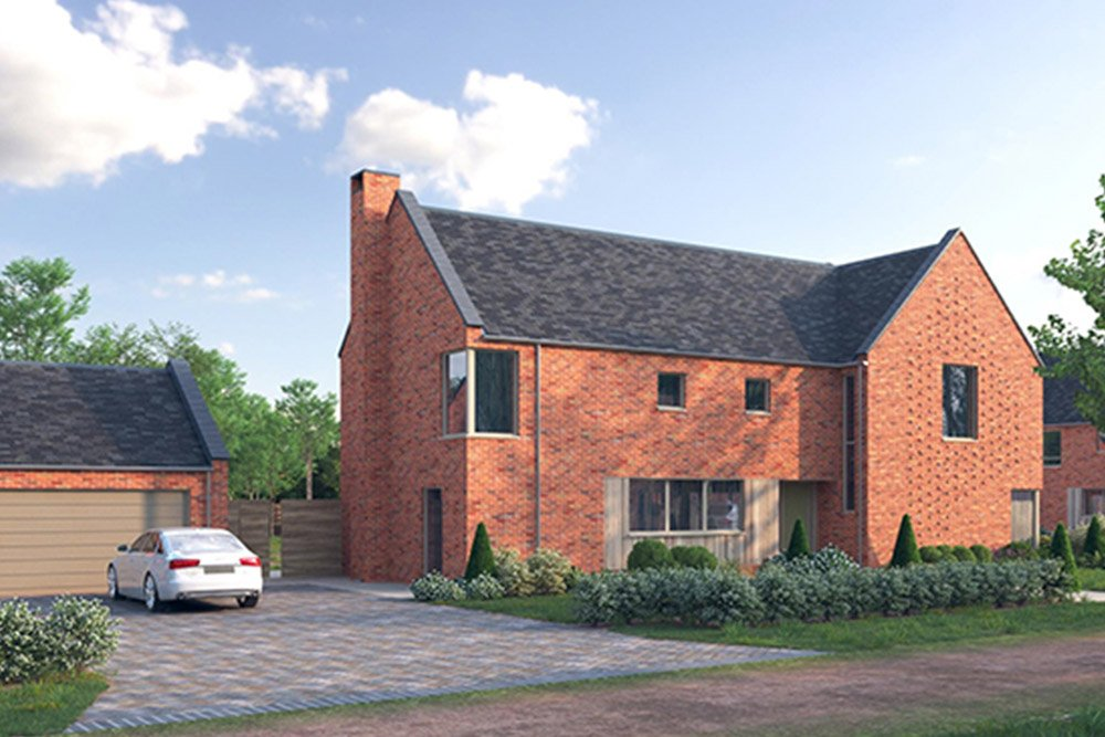 Development of six contemporary homes in Taverham by Fleur Homes